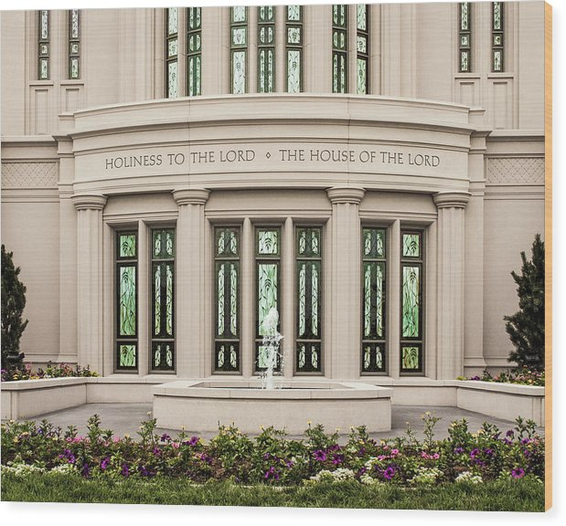 Payson Wood Print featuring the photograph Payson Temple - House of the Lord by Brent Borup
