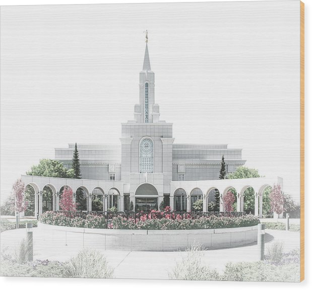 Bountiful Wood Print featuring the digital art Bountiful Temple - Celestial Series by Brent Borup