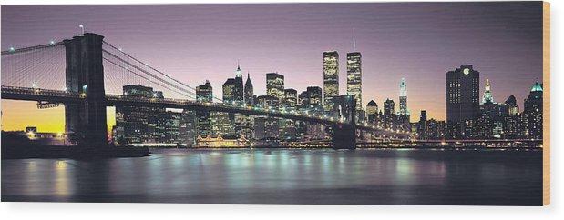 New York City Skyline Wood Print featuring the photograph New York City Skyline by Jon Neidert