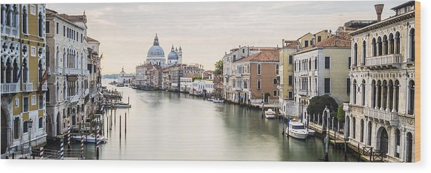 Venice Wood Print featuring the photograph Accademia Bridge by Marco Missiaja