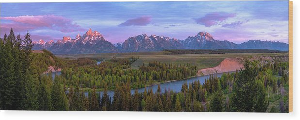 Grand Tetons Wood Print featuring the photograph Grand Tetons by Chad Dutson
