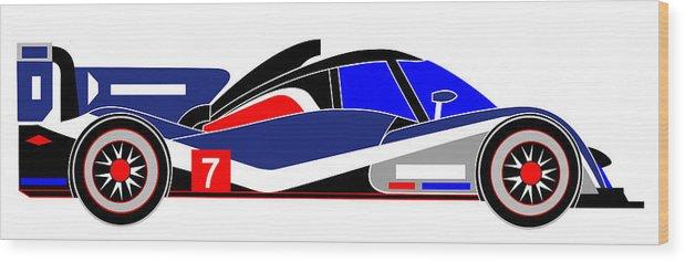 Peugeot Wood Print featuring the digital art Le Mans 2011 Peugeot 908 number 7 by Asbjorn Lonvig