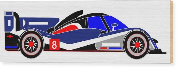Peugeot Wood Print featuring the digital art Le Mans 2011 Peugeot 908 number 8 by Asbjorn Lonvig