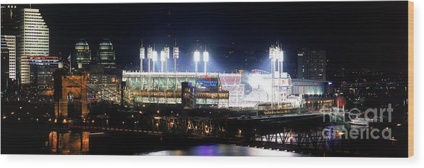Great American Ball Park Wood Print featuring the photograph Houston V Reds by Jerry Driendl