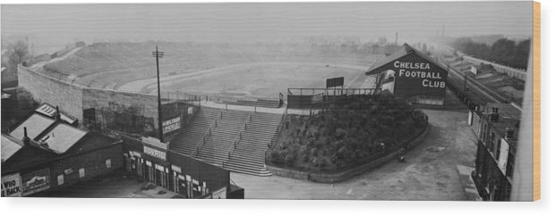 Empty Wood Print featuring the photograph Stamford Bridge View by Alfred Hind Robinson