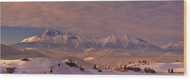 Tatra Wood Print featuring the photograph The Tatra Mountains by Krzysztof Mierzejewski