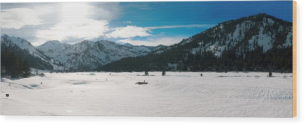 Wood Print featuring the photograph Squaw Valley Panoramic by Adam Blankenship