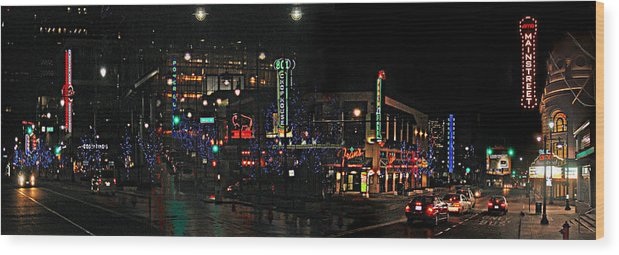 City Scape Wood Print featuring the photograph Fourteenth and Main by Steve Karol