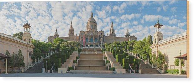 Catalonia Wood Print featuring the photograph Barcelona Museu Nacional Dart De by Fotovoyager