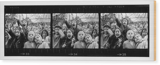 Timeincown Wood Print featuring the photograph Composite Of Frames 33 34 & 35 Of by Alfred Eisenstaedt