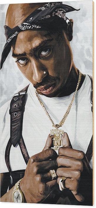 2Pac Tupac Shakur Artwork  by Sheraz A