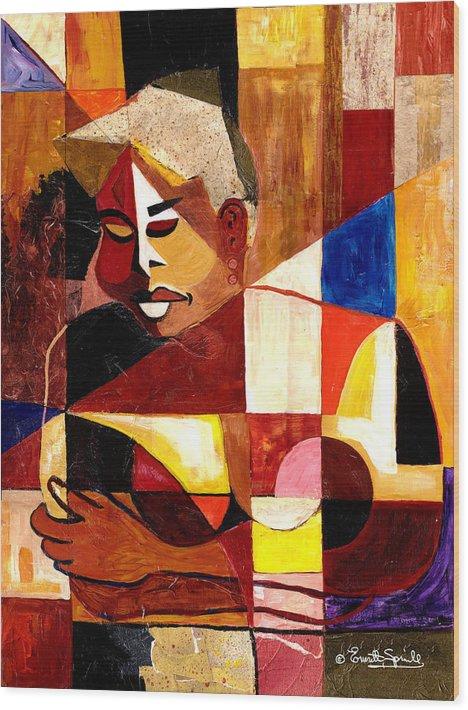 Everett Spruill Wood Print featuring the painting The Matriarch - Take 2 by Everett Spruill
