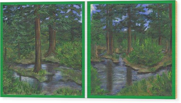 Guanella Pass Wood Print featuring the painting Near Guanella Pass by Jennifer Skalecke