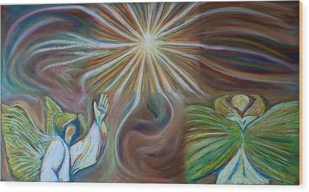God Wood Print featuring the pastel Holy Holy Holy by Joseph Bradley