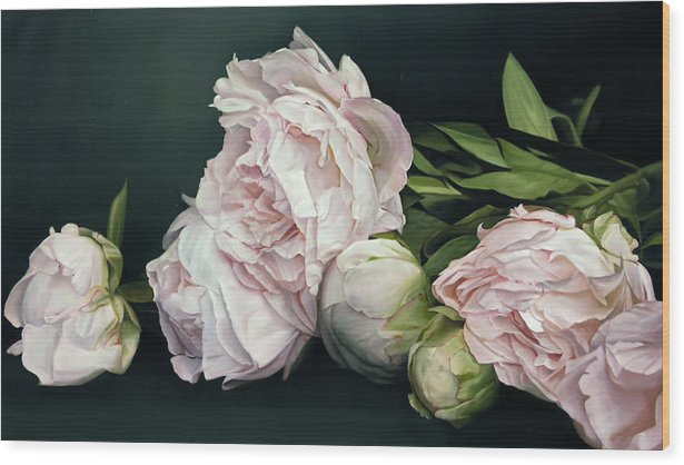 Peonies IIl, 114 x 195 cm by Thomas Darnell