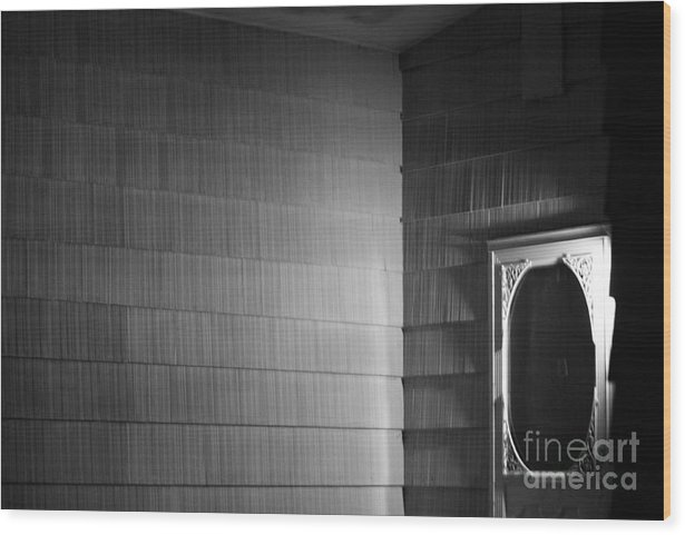 White Door Wood Print featuring the photograph White Screen Door by Steven Macanka