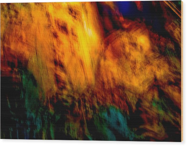 Landscape Wood Print featuring the painting Wounded Earth 2 by Tim Thorpe