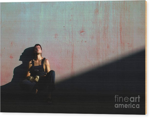 Light Wood Print featuring the photograph The Friend To My Friend... by Vadim Grabbe