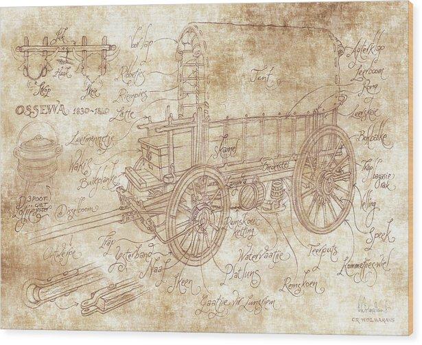 South Wood Print featuring the digital art Ossewa by Christo Wolmarans