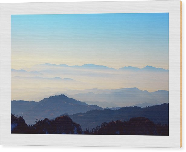 Landscape Wood Print featuring the photograph Beyond The Clouds by Rochak Timilsina