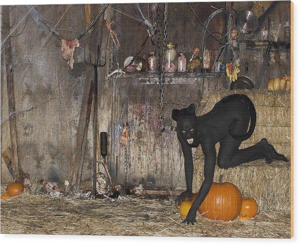Filippo Ioco Wood Print featuring the photograph Halloween 2 by Filippo Ioco