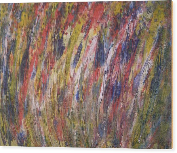 Abstract Wood Print featuring the painting Spirits Rising by Don Phillips
