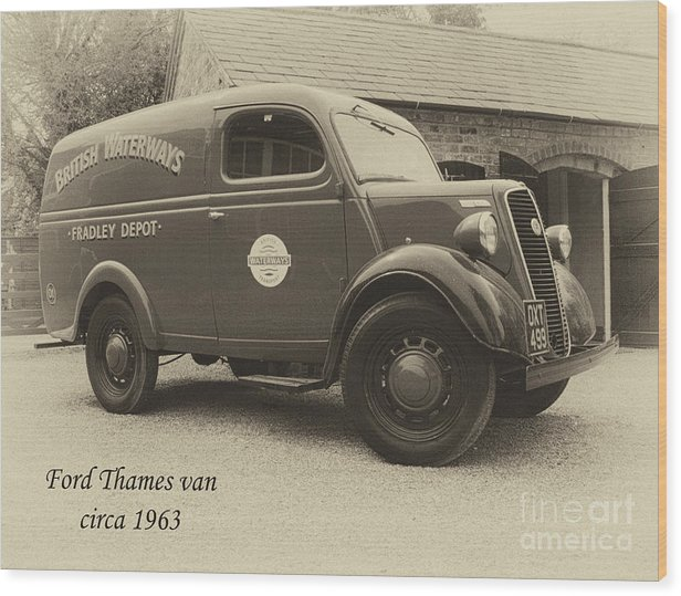 Van Wood Print featuring the photograph Ford Thames Van Aged by Steev Stamford