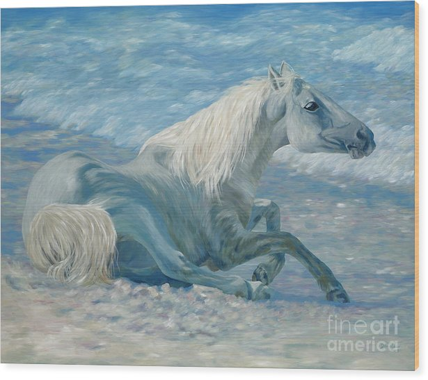 Seascape Wood Print featuring the painting Free Spirit by Danielle Perry