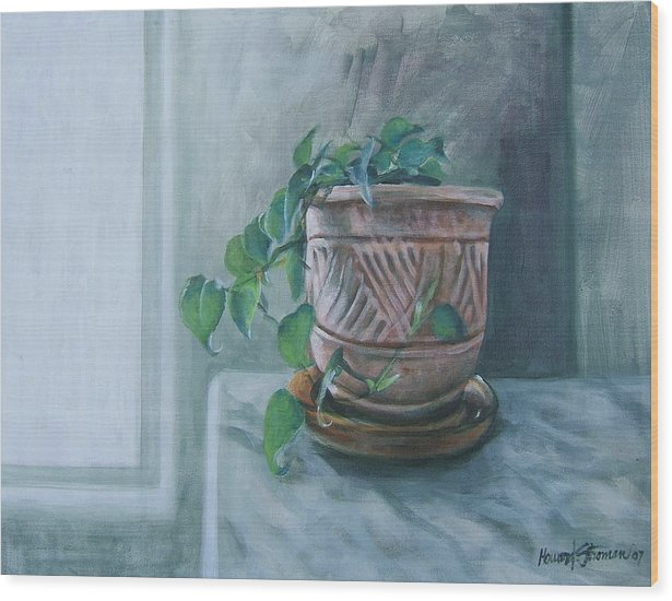 Still Life Wood Print featuring the painting Let There Be Light by Howard Stroman