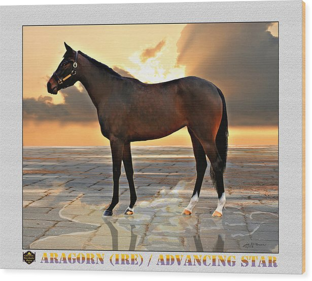2 Year Old Race Horse Wood Print featuring the painting Hip 67 by John Breen