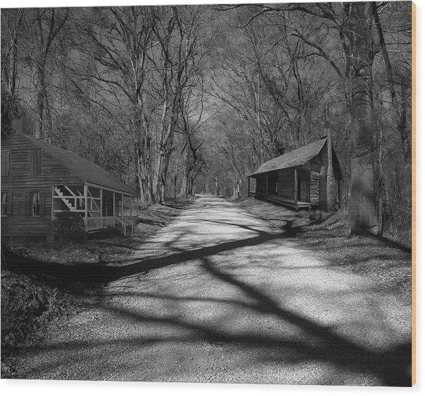 Photoart Wood Print featuring the photograph Route De La Louisiane by Cecil Fuselier