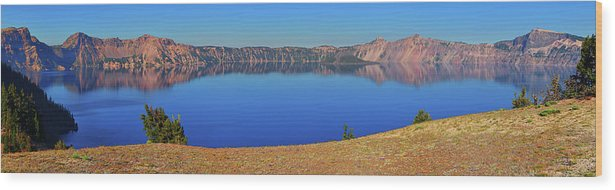Crater Lake Wood Print featuring the photograph Big Blue by Greg Norrell
