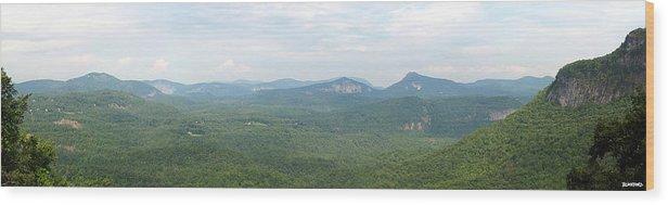North Carolina Wood Print featuring the photograph Carolina Mountain View by Al Blackford