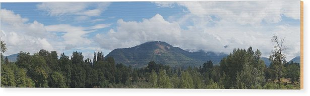 Panorama Wood Print featuring the photograph Mt Baldy Panorama From Grants Pass by Mick Anderson