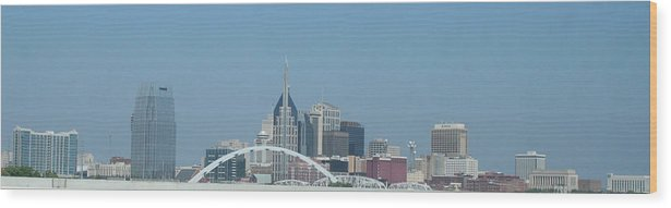 City Wood Print featuring the photograph Skyline by Robyn Combs