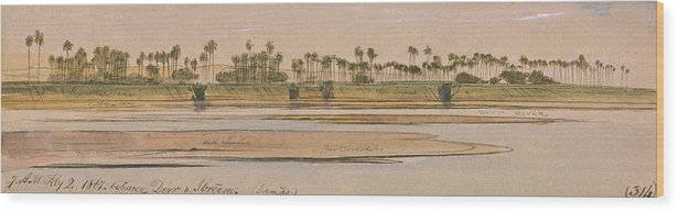 English Art Wood Print featuring the drawing Between Derr And Ibreem by Edward Lear