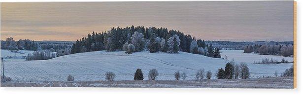 Finland Wood Print featuring the photograph Mihari Fields by Jouko Lehto