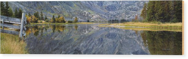 Beautiful Wood Print featuring the photograph East Rosebud Lake Fall Panorama by Roger Snyder