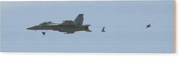 Airplane Wood Print featuring the photograph Try To Keep Up Would Ya by David Dunham