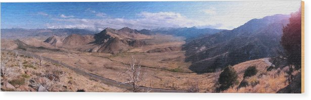 California Landscape Art Wood Print featuring the painting From Monitor Pass by Larry Darnell