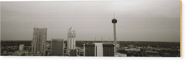 Architecture Wood Print featuring the photograph Sa Skyline 001 by Shawn Marlow