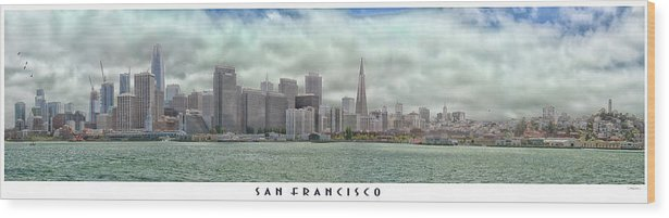 Cityscape Wood Print featuring the photograph San Francisco Skyline by Debby Richards