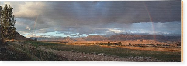 Beautiful Wood Print featuring the photograph Clarks Fork Rainbow by Roger Snyder