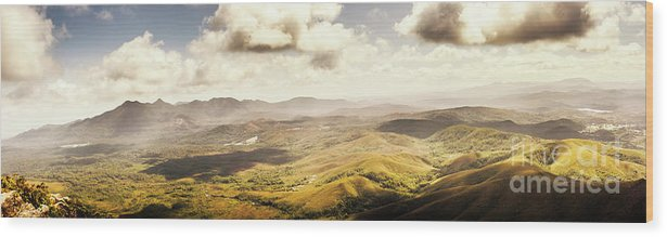 Magnificent Wood Print featuring the photograph From Zeehan To Trial Harbour by Jorgo Photography - Wall Art Gallery