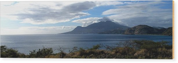 St Kitts Wood Print featuring the photograph St Kitts Vista by Ian MacDonald