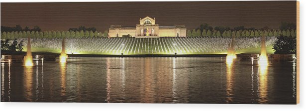 Ultra-wide Panorama Wood Print featuring the photograph The Heartland Remembers by Harold Rau