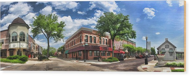 Wheaton Wood Print featuring the painting Wheaton Front Street Panorama by Christopher Arndt