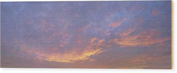 Sunrise Wood Print featuring the photograph Sunrise by Bob Bennett