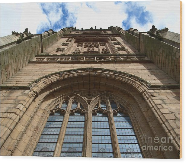 Cathedral Wood Print featuring the photograph Looking up to God by Steev Stamford