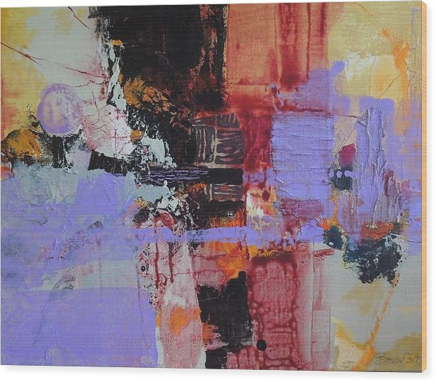 Mixed Media Wood Print featuring the mixed media Cambodian Dusk by Jo Ann Brown-Scott